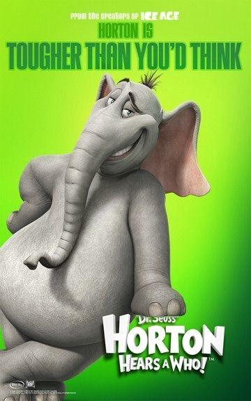 Poster promozionale verde per Horton Hears a Who!