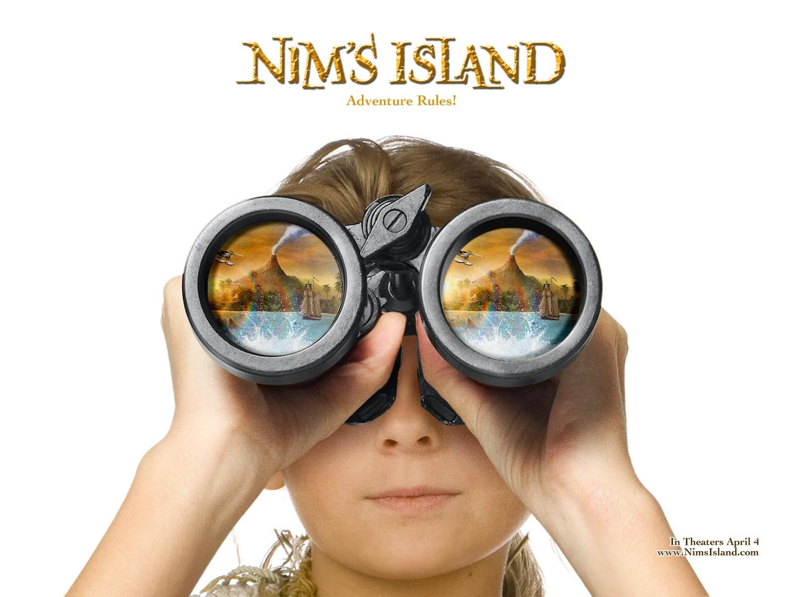 Abigail Breslin in un wallpaper del film Alla ricerca dell'isola di Nim