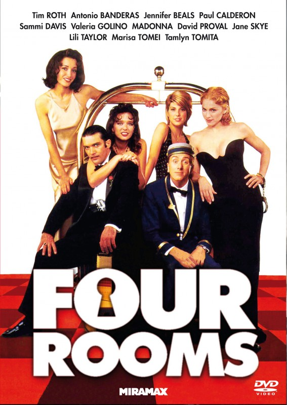 La copertina DVD di Four Rooms