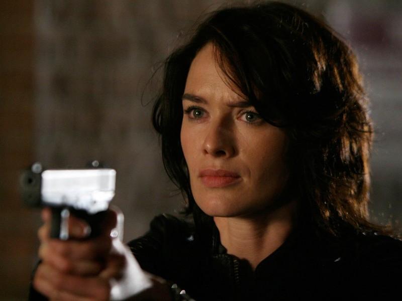 Lena Headey in una scena di 'What He Beheld', nono episodio di Sarah Connor Chronicles