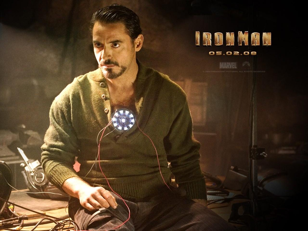 Wallpaper del film Iron Man con Downey