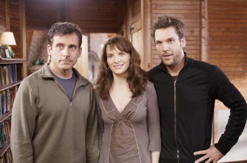 Steve Carell e Juliette Binoche con Dane Cook nel film L'amore secondo Dan