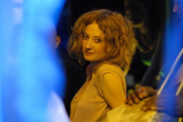 Alba Rohrwacher sul set del film Riprendimi