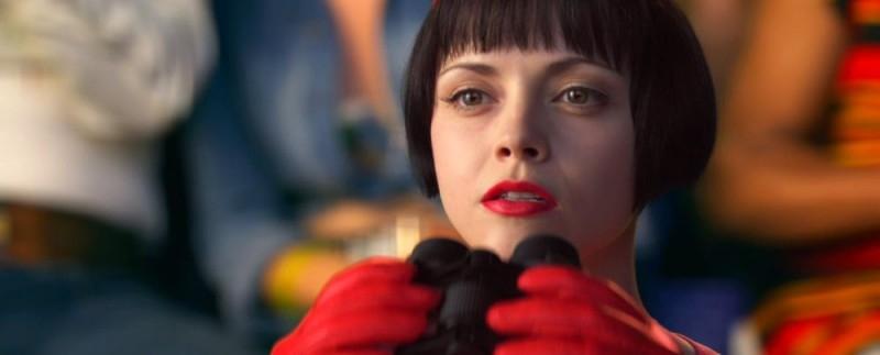 Christina Ricci in una sequenza del film Speed Racer