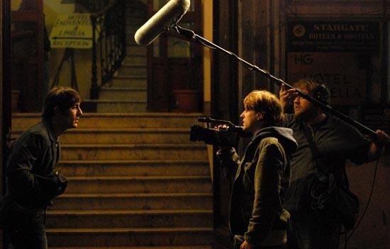 Marco Foschi, Alessandro Averone e Stefano Fresi sul set del film Riprendimi