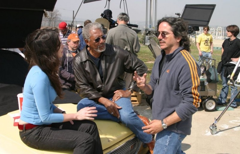 Morgan Freeman, Paz Vega e il regista Brad Silberling sul set del film 10 cose di noi