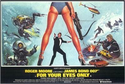 Una lobbycard promozionale di Agente 007, solo per i tuoi occhi