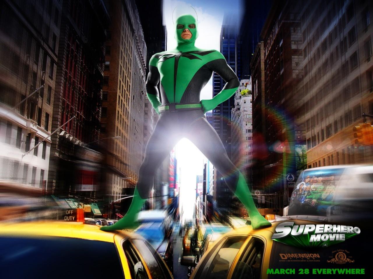 Wallpaper del film Superhero - Il più dotato fra i supereroi con Drake Bell
