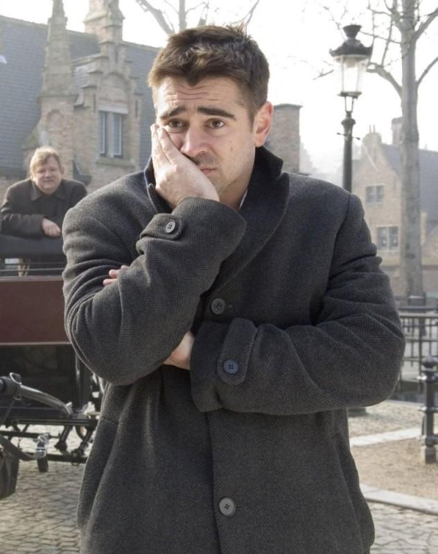 Colin Farrell in una sequenza del film In Bruges