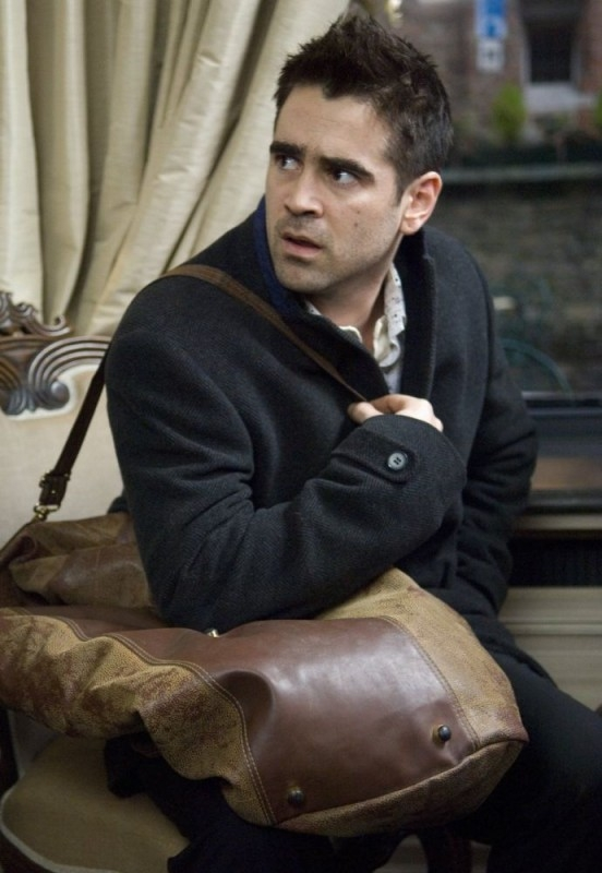 Farrell in una scena del film In Bruges