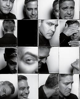 Un 'multiritratto' di George Clooney
