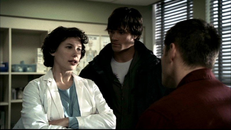 Jensen Ackles e Jared Padalecki nell'episodio 'Faith' del serial Supernatural