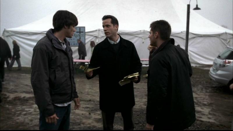 Jensen Ackles e Jared Padalecki nell'episodio 'Faith' di Supernatural