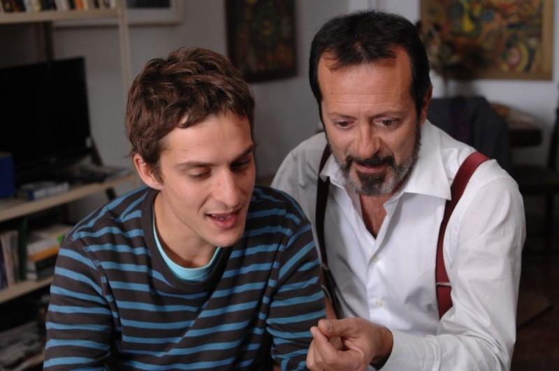 Alessandro Tiberi e Rocco Papaleo in una sequenza del film L'amore non basta