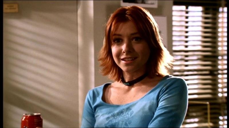 Alyson Hannigan in una sequenza dell'episodio 'Fuga dall'oltretomba' della quarta stagione di Buffy - L'ammazzavampiri