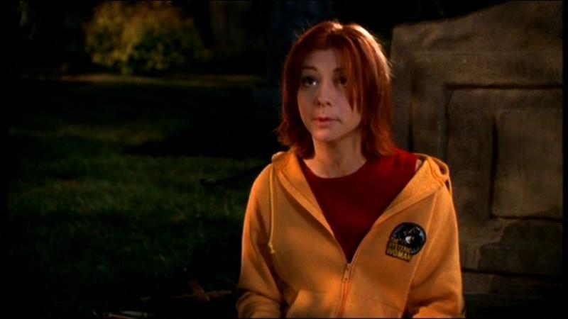 Alyson Hannigan in una sequenza dell'episodio 'La matricola' della quarta stagione di Buffy - L'ammazzavampiri