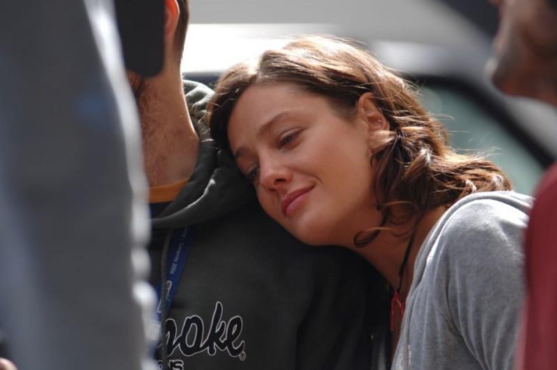 Giovanna Mezzogiorno sul set del film L'amore non basta