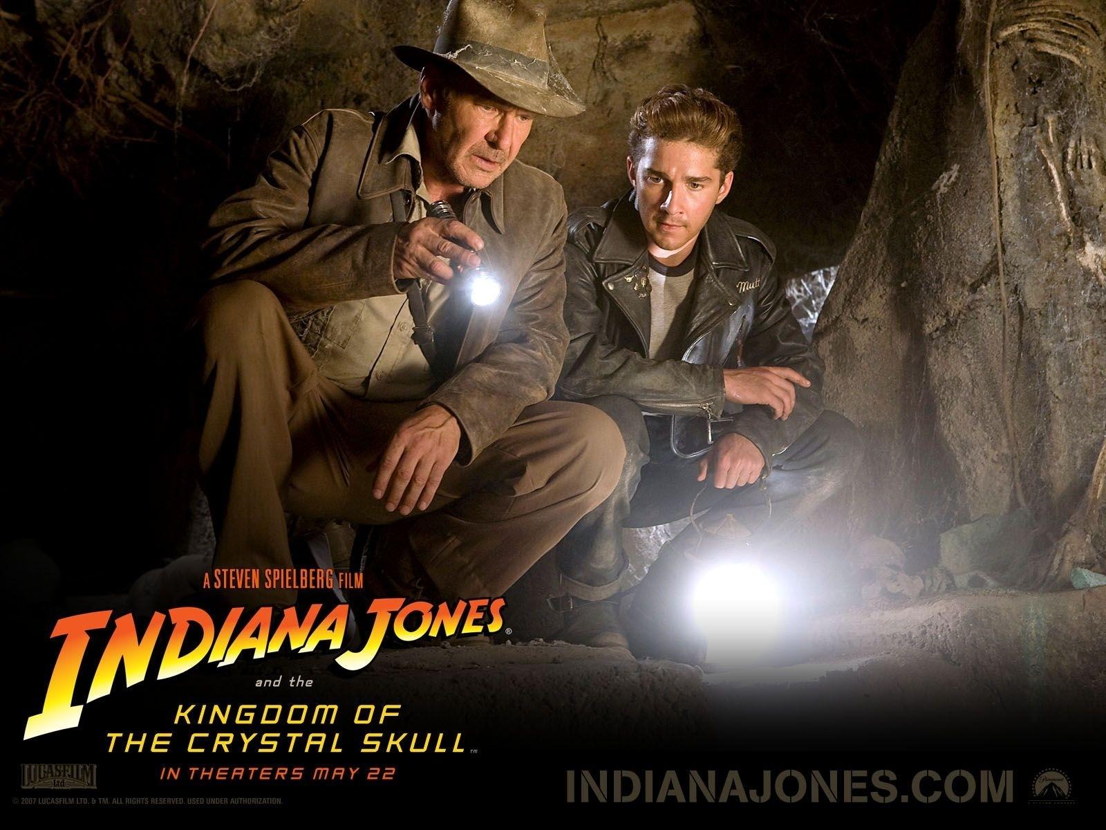 Wallpaper dell'avventuroso Indiana Jones e il Regno del Teschio di Cristallo