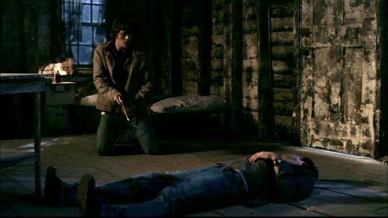 Jared Padalecki e Jeffrey Dean Morgan nell'episodio 'La trappola del diavolo' di Supernatural