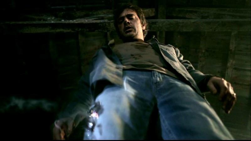 Jeffrey Dean Morgan in una sequenza dell'episodio 'La trappola del diavolo' di Supernatural