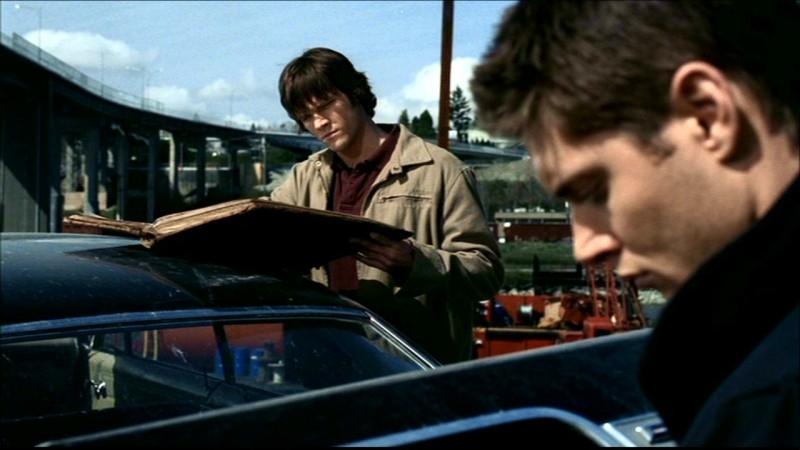 Jensen Ackles con Jared Padalecki  nell'episodio 'La trappola del diavolo' di Supernatural