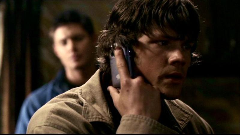Jensen Ackles, nei panni di Dean e Jared Padalecki nell'episodio 'Salvation' di Supernatural