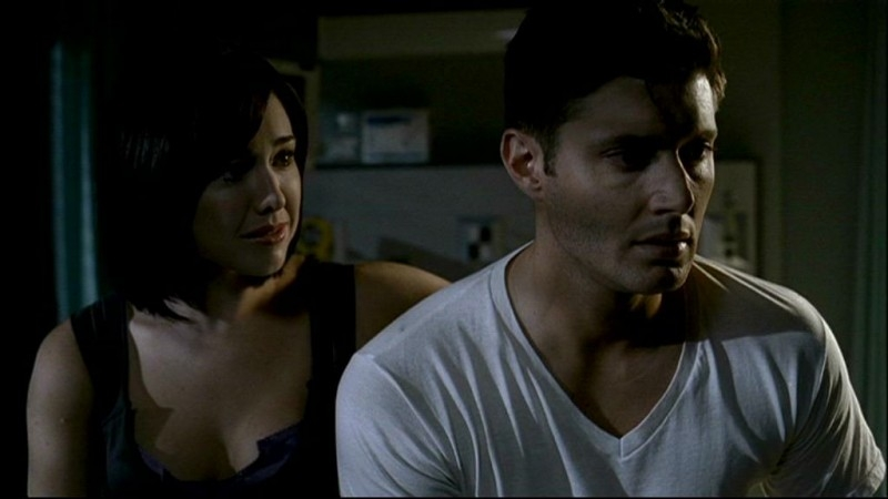 Lindsey McKeon e Jensen Ackles, nell'episodio 'In my time of dying'