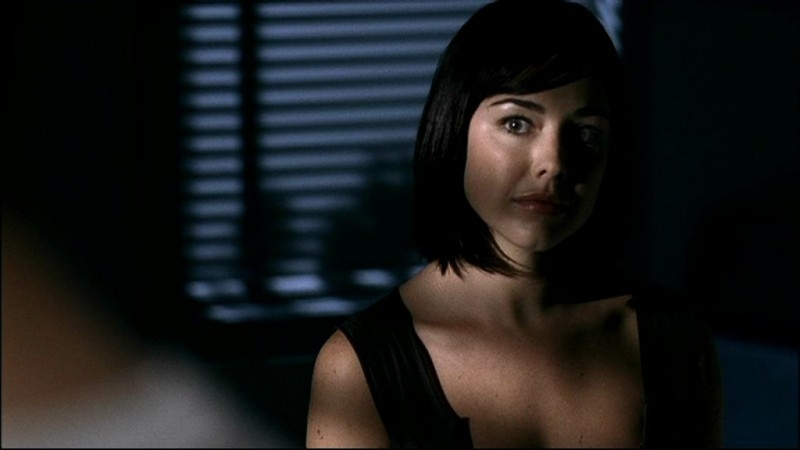 Lindsey McKeon, nel ruolo dell'Angelo della Morte, nell'episodio 'In my time of dying'