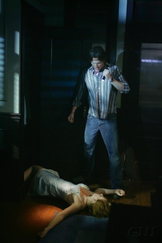 Jared Padalecki e Georgia Craig nell'episodio 'Nightshifter' della serie tv Supernatural