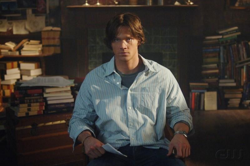Jared Padalecki sul set dell'episodio 'Born under a bad sign' della serie tv Supernatural