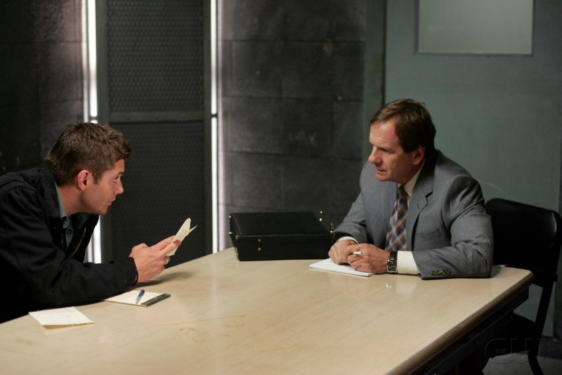 Jensen Ackles e Andy Stahl nell'episodio 'The usual suspects' della serie tv Supernatural