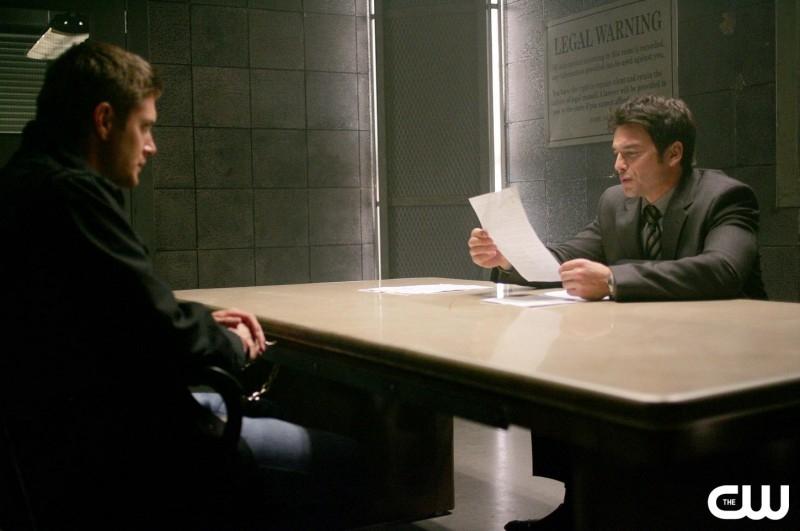Jensen Ackles e Jason Gedrick nell'episodio 'The usual suspects' della serie tv Supernatural