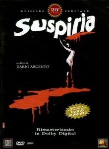 La copertina DVD di Suspiria