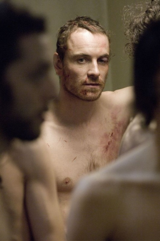 Michael Fassbender in una sequenza del film Hunger
