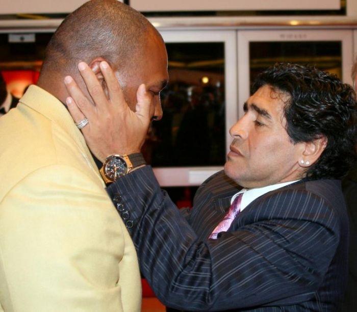 Festival di Cannes 2008, due leggende sul red carpet: Maradona e Myke Tyson