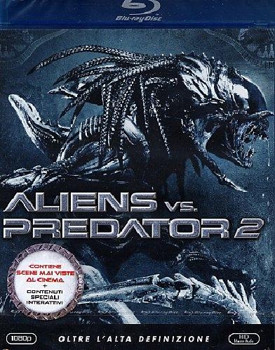 La copertina DVD di Alien vs. Predator 2 (Blu-Ray)