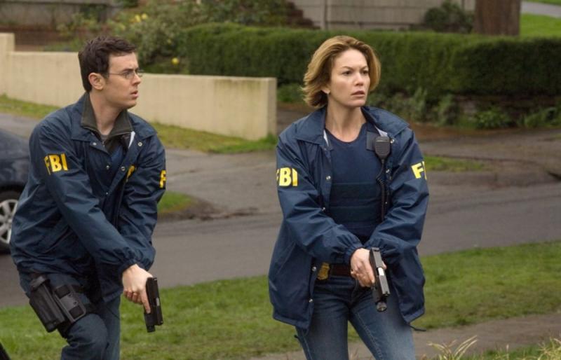 Colin Hanks e Diane Lane in una scena del film Nella rete del serial killer