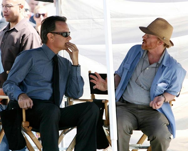 Tom Hanks e Ron Howard a Roma sul set di Angeli e demoni
