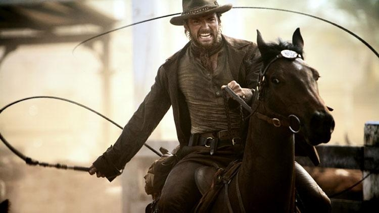 Hugh Jackman in una scena del film Australia