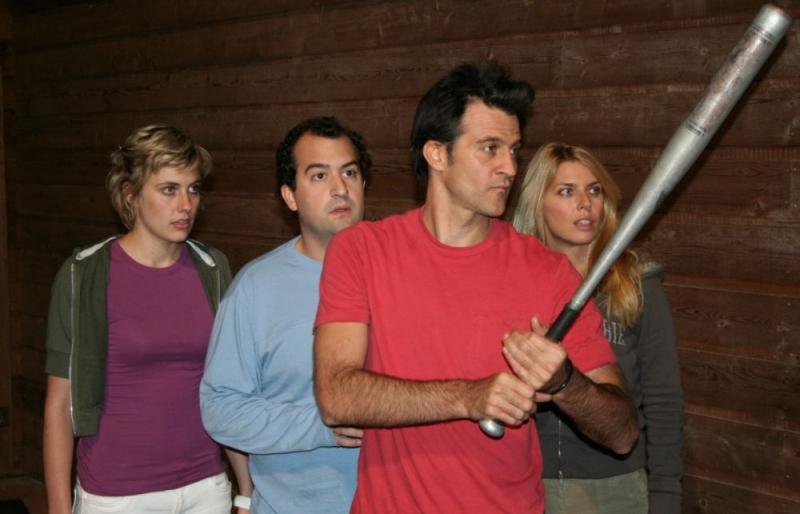 Greta Gerwig, Steve Zissis, Ross Partridge e Elise Muller in una scena del film Baghead