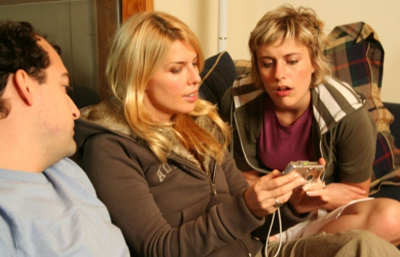 Steve Zissis, Elise Muller e Greta Gerwig in una scena del film Baghead