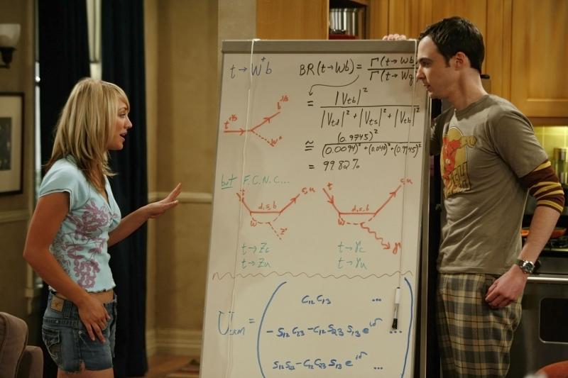 Jim Parsons e Kaley Cuoco nel pilot di The Big Bang Theory