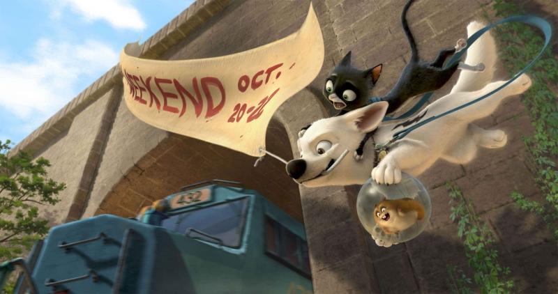 Una scena del film Bolt