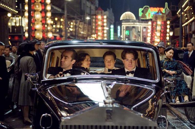 Maria Bello, Luke Ford e Brendan Fraser in una scena di La mummia 3