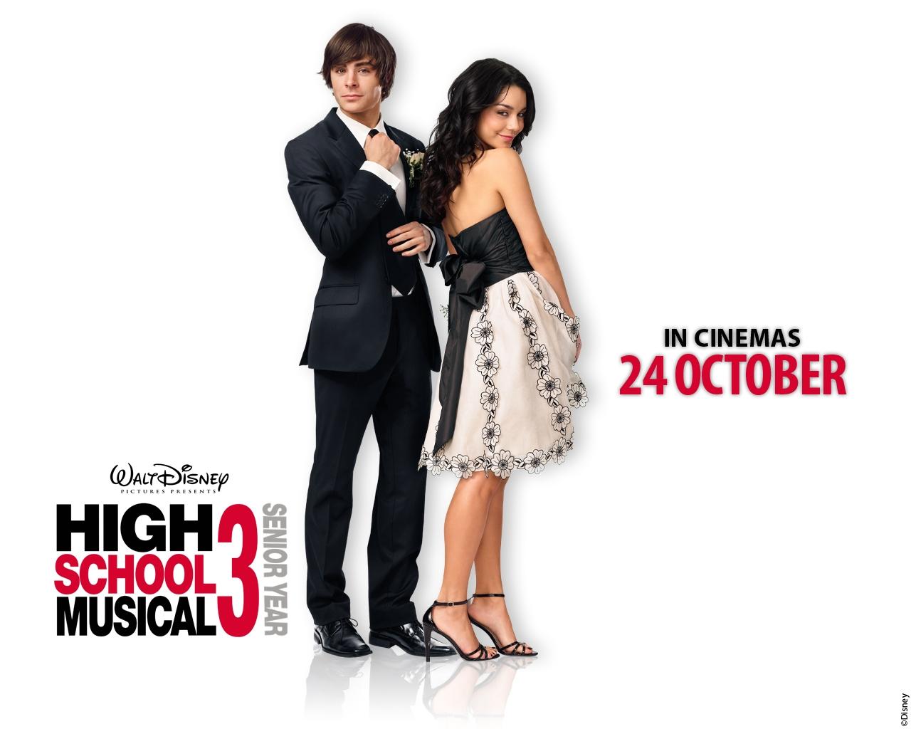 Wallpaper Di High School Musical 3 Con Zac Efron E Vanessa