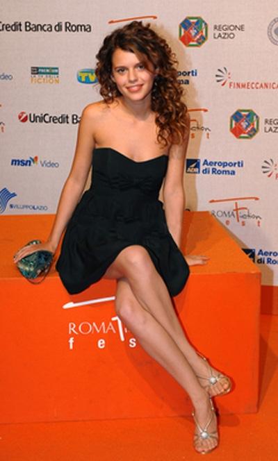 L'attrice Pamela Saino al Roma Fiction Fest 2008