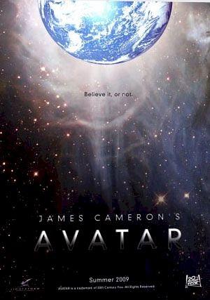 Uno dei primi manifesti del film Avatar di James Cameron