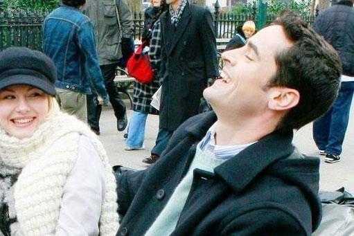 Elisha Cuthbert e Jesse Bradford in una sequenza del film My Sassy Girl