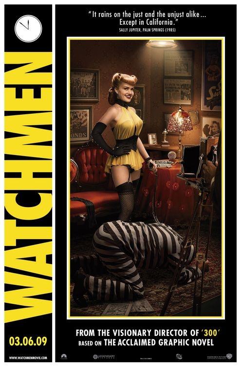 Comicon poster per Watchmen - Sally Jupiter (1985)