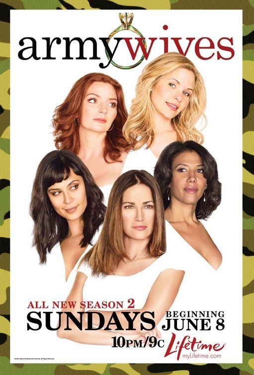 La locandina della seconda stagione di  Army Wives